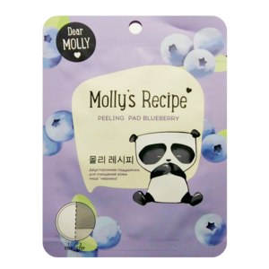Очищающая подушечка для лица Molly's Recipe Peeling pad blueberry фото