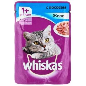 Корм для кошек Whiskas Желе с лососем фото