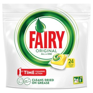 Капсулы для посудомоечной машины Fairy Original All in One 24 шт фото