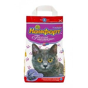Наполнитель для кошачьего туалета Комфорт  Компакт 2,5 кг с лавандой фото