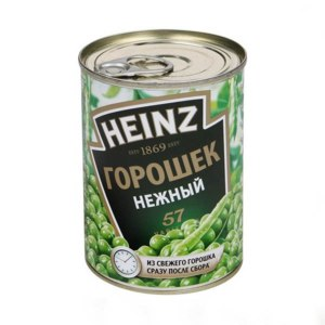 Горошек зеленый консервированный Heinz  фото