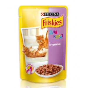 Friskies для котят (паучи) с ягненком фото