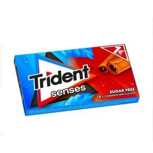 Жевательная резинка Trident senses (Тридент Сенсис) без сахара. Вкус корицы и мяты фото