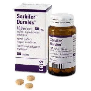Витамины Сорбифер Дурулес (Железо + Аскорбиновая кислота) фото