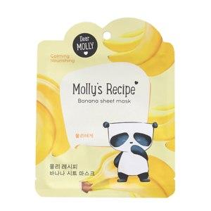 Тканевая маска для лица  Dear Molly. Molly's Recipe Banana sheet mask. фото
