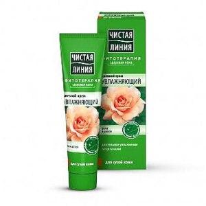 Крем для лица Чистая линия Насыщенный Увлажняющий для сухой кожи с экстрактом лепестков розы фото
