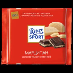 Шоколад темный Ritter Sport с марципановой начинкой фото