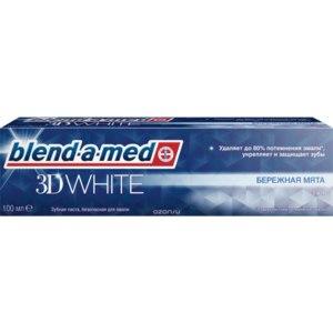 """Зубная паста Blend-a-med 3D White """"Бережная мята"""" фото"""