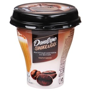 Коктейль йогуртный Даниссимо Shake&go со вкусом Капучино 5,2% фото