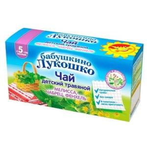 Чай Бабушкино лукошко Мелисса, чабрец, фенхель - с 5-ти месяцев фото