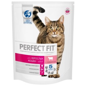 Корм для кошек Perfect Fit ADULT для взрослых кошек с говядиной фото