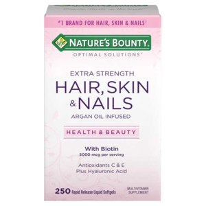 Витамины Nature's Bounty Optimal solutions Extra strength Hair, Skin & Nails (волосы, кожа и ногти) фото