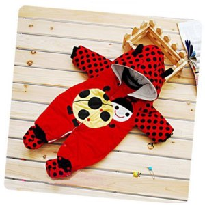 Комбинезон AliExpress Baby Winter Romper, Thicken Fleece Romper,Baby jumpsuit, Infant Animal Romper with two colors фото