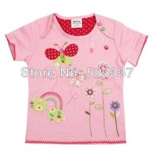 Футболки AliExpress KF2095 New 2013 Nova Baby Clothing Girl Floral T-shirts beautiful flowers embroidery T-shirt for baby girls  фото