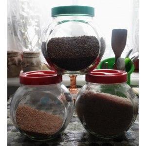Банка для сыпучих продуктов с крышкой Ever Glass Стеклянная фото