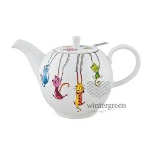 Фарфоровый чайник Hot contents Паркур фото