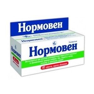 Средства д/лечения варикозного расширения вен Киевский витаминный завод НОРМОВЕН фото