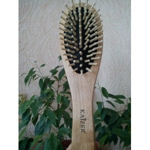 Расческа KAIZER Antistatic деревянная массажная фото