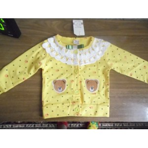 Кофта AliExpress 2014 New Arrival Fashion Bestselling Kids Girls Baby Children Bear Cotton Lace Dot Cotton Long Sleeve T-Shirts Free Shipping фото