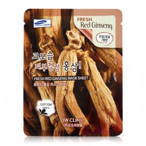 Тканевая маска для лица 3W CLINIC Fresh Red Ginseng Mask Sheet фото