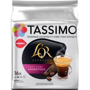 Капсулы для кофемашин Tassimo L`OR Cafe Long Aromatique фото