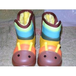 Зимние ботинки Aliexpress Slip-resistant child snow boots male female waterproof child cotton-padded shoes  фото