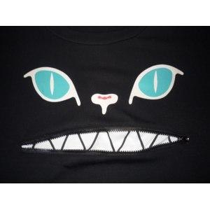 Футболка AliExpress Free Shipping Factory direct Wholesale of Drop Shipping for Kawaii Women's Short sleeve's cat demon zipper T-shirt фото