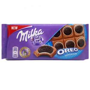 Шоколад Milka Oreo Sandwich Chocolates фото