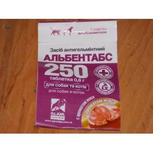 """Антигельминтики O.L.KAR-АгроЗооВет-Сервис для кошек и собак """"Альбентабс"""" фото"""
