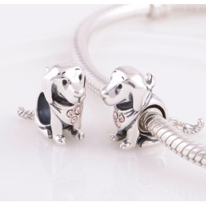 Шармы Aliexpress Шарм  Aliexpress hot new products for 2014 puppy dog charm silver 925 jewelry fits braclets alibaba website GW fine jewelry YZ510 фото
