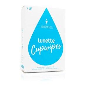 Очищающие салфетки Lunette для менструальной чаши Cupwipe Menstrual Cup Cleanser On The Go 10 Wipes фото