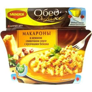 Готовые блюда Maggi delux макароны в сливочном соусе фото