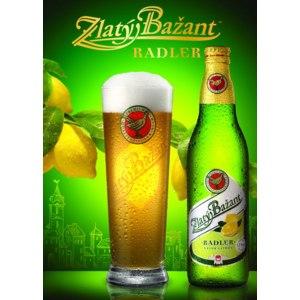 Пиво Zlaty Bazant с лимоном фото