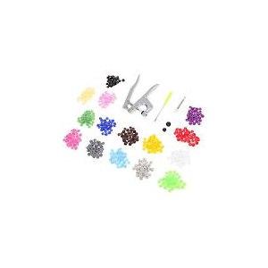Пресс для установки пластиковых кнопок Aliexpress Metal Press Pliers Tools Used for T3 T5 T8 Kam Button Fastener Snap Pliers+150set/50Set T5 Plastic Resin Press Stud Cloth Diaper фото