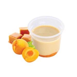 Йогуртный десерт МясновЪ Фиеста с карамелью и кусочками абрикоса 1,7% фото