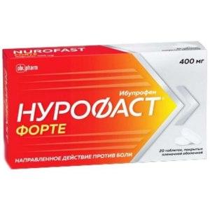 Обезболивающее и противовоспалительное средство АО «ФП «Оболенское»  Нурофаст форте фото