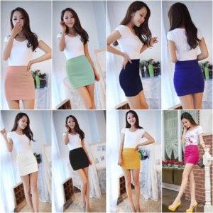 Юбка Ebay Elastic Mini Skirt Stretch (One size) фото