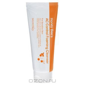 Пенка для умывания Secret key Honey bee's ac control foaming cleanser фото