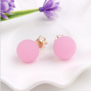 Серьги-пусеты Aliexpress Multi-Colored Earrings Crystal Double Side Girl's Ball Stud Earrings Kawaii Brinco Piercing Jewelry Trendy Ornaments Accessories фото