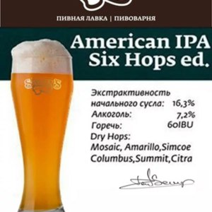 Пиво Salden's American IPA Six Hops ed. фото