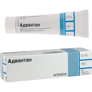 """Гормональные препараты Intendis """"Адвантан"""" Крем для наружного применения 0,1% (метилпреднизолона ацепонат) фото"""