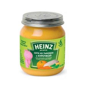 Детское питание Heinz Соте из тыковки с курочкой (от 6 месяцев) фото