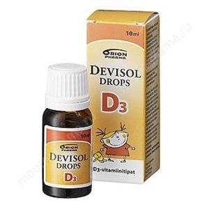 """Витамины Orion Pharma """"DeviSol D3"""" капли (витамин D3) фото"""