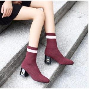Сапоги Aliexpress Fashion Ankle Elastic Sock Boots <b>Chunky High</b> ...