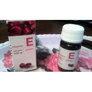 Витамин Е Zentiva Альфа-токоферола ацетат 200 мг фото