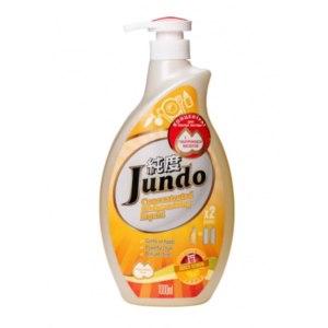 Гель для мытья посуды Jundo Juicy Lemon с гиалуроновой кислотой, концентрированный c дозатором фото