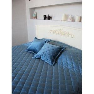 Двуспальное покрывало Травушка бархат-велюр с 2-мя подушками 240 х 220 см фото