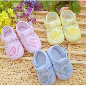 Тапки Aliexpress New Cotton Lovely Baby Shoes Toddler Unisex Soft Sole Skid-proof 0-12 Months Kids infant Shoe 3 Colors 13108 фото