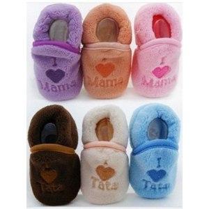 Тапки Aliexpress I Love Mama infant shoe indoor sock, baby first walkers warm shoes, baby shoe фото