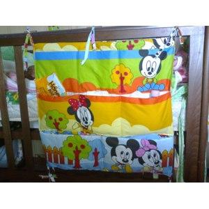 Органайзер на кроватку Aliexpress High fashion bedside crib diaper bag multilayer cotton bag beautiful childrens bed storage box bags K176 фото